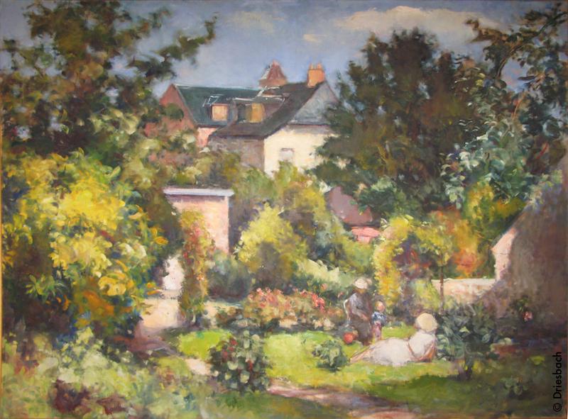 06 302a jardin de la rue bucaille 81x116 1948 jean dries for Jardin 122 rue des poissonniers