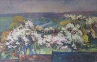 DRIES Arbres-en-fleurs-au-marais-Vernier