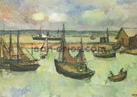 DRIES Bateaux-dans-le-port-de-Honfleur