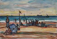 DRIES Soiree-sur-la-plage-Trouville