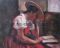 DRIES Jeune-femme-lisant-a-Mendoza