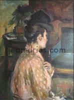 DRIES Jeune-femme-au-corsage-rose
