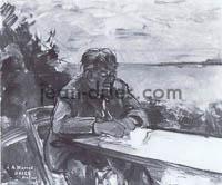 DRIES Andre-Warnod-ecrivant