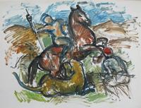 DRIES Homme-a-cheval-terrassant-une-lionne.jpg