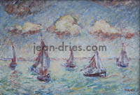 DRIES Rentree-de-barques-Honfleur